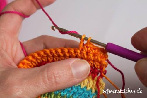 Crochet Along Babydecke Teil 10 Reihe 1b - schoenstricken.de