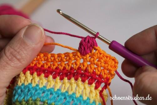 Crochet Along Babydecke Teil 10 Reihe 1d - schoenstricken.de
