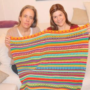Crochet Along Regenbogen Babydecke Teil 10
