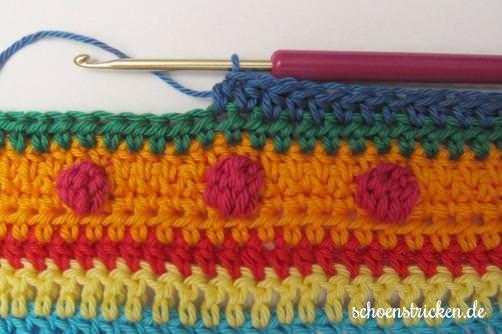 Crochet Along Babydecke Teil 10 Reihe 5 - schoenstricken.de