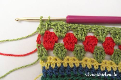 Crochet Along Babydecke Teil 10 Reihe 7,8,9 - schoenstricken.de