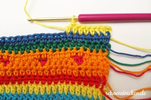 Crochet Along Babydecke Teil 10 Reihe gelb - schoenstricken.de