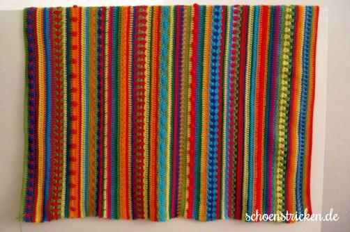 Crochet Along Babydecke Teil 11 Endbild Decke - schoenstricken.de
