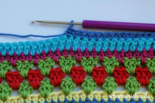 Crochet Along Babydecke Teil 11 Reihe 1