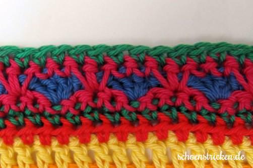 Crochet Along Babydecke Teil 11 Reihe 10 - schoenstricken.de