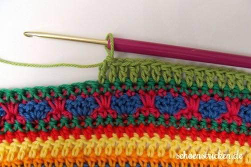 Crochet Along Babydecke Teil 11 Reihe 11 - schoenstricken.de