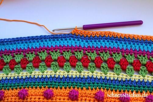 Crochet Along Babydecke Teil 11 Reihe 2 - schoenstricken.de