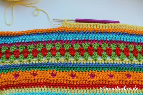 Crochet Along Babydecke Teil 11 Reihe 3 - schoenstricken.de
