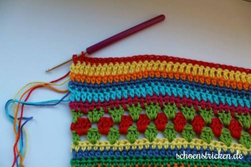 Crochet Along Babydecke Teil 11 Reihe 4 - schoenstricken.de