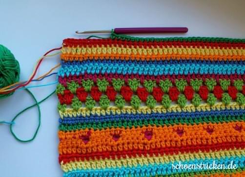 Crochet Along Babydecke Teil 11 Reihe 5 - schoenstricken.de