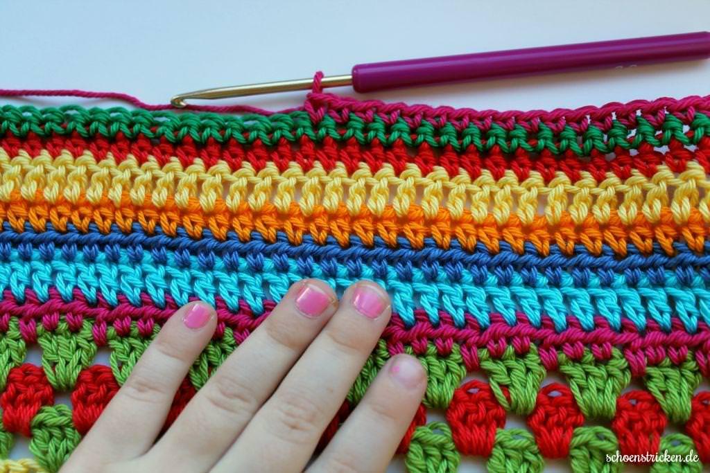 Schoenstrickende Crochet Along Babydecke Teil 11