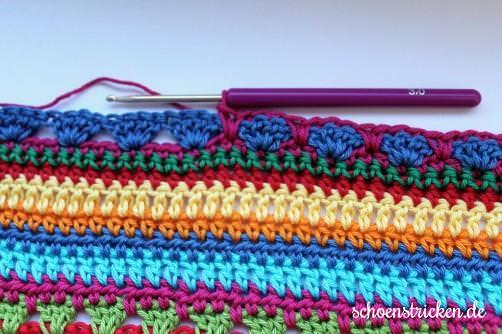 Crochet Along Babydecke Teil 11 Reihe 8 - schoenstricken.de