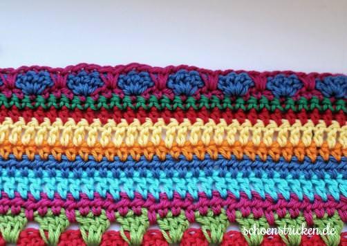 Crochet Along Babydecke Teil 11 Reihe 9 - schoenstricken.de