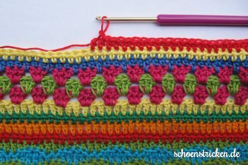 Crochet Along Babydecke Teil 8 Reihe 1 - schoenstricken.de