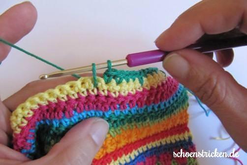 Crochet Along Babydecke Teil 8 Reihe 10a - schoenstricken.de