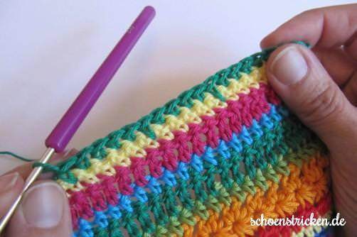 Crochet Along Babydecke Teil 8 Reihe 10b - schoenstricken.de