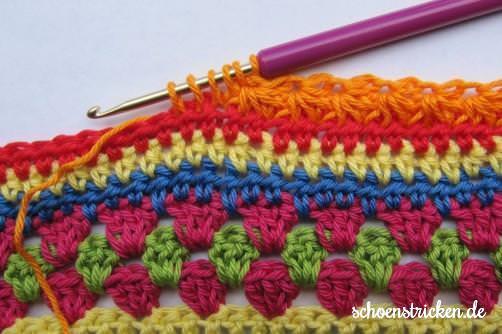 Crochet Along Babydecke Teil 8 Reihe 3 - schoenstricken.de