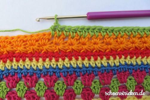 Crochet Along Babydecke Teil 8 Reihe 5 - schoenstricken.de