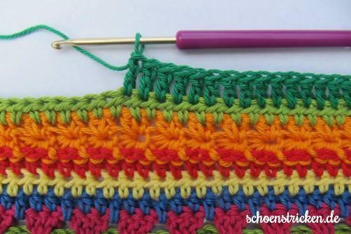 Crochet Along Babydecke Teil 8 Reihe 6 - schoenstricken.de