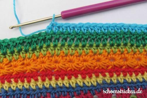 Crochet Along Babydecke Teil 8 Reihe 7 - schoenstricken.de