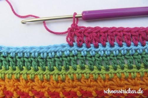 Crochet Along Babydecke Teil 8 Reihe 8 - schoenstricken.de
