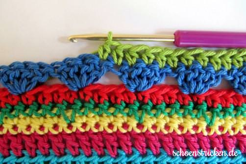 Crochet Along Teil 9 Babydecke Reihe 2 - schoenstricken.de