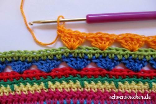 Crochet Along Teil 9 Babydecke Reihe 3 - schoenstricken.de