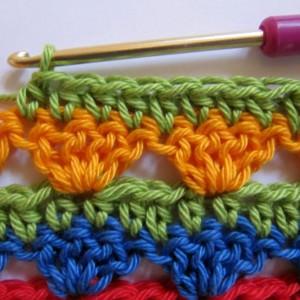 Crochet Along Regenbogen Babydecke Teil 9