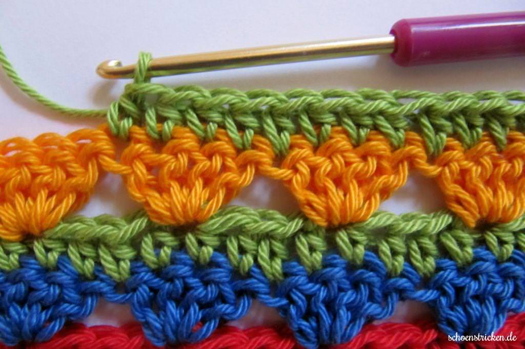 Crochet Along Teil 9 Babydecke Reihe 4 - schoenstricken.de