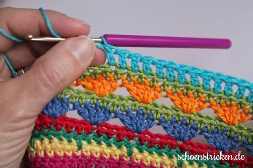 Crochet Along Teil 9 Babydecke Reihe 5 - schoenstricken.de
