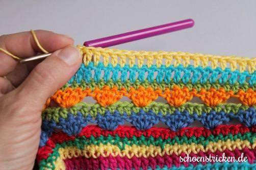 crochet along regenbogen babydecke teil 9. Black Bedroom Furniture Sets. Home Design Ideas