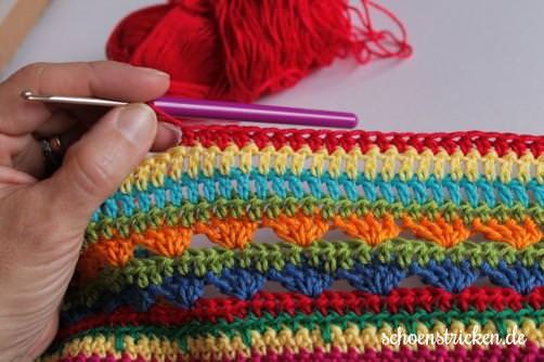 Crochet Along Teil 9 Babydecke Reihe 7 - schoenstricken.de