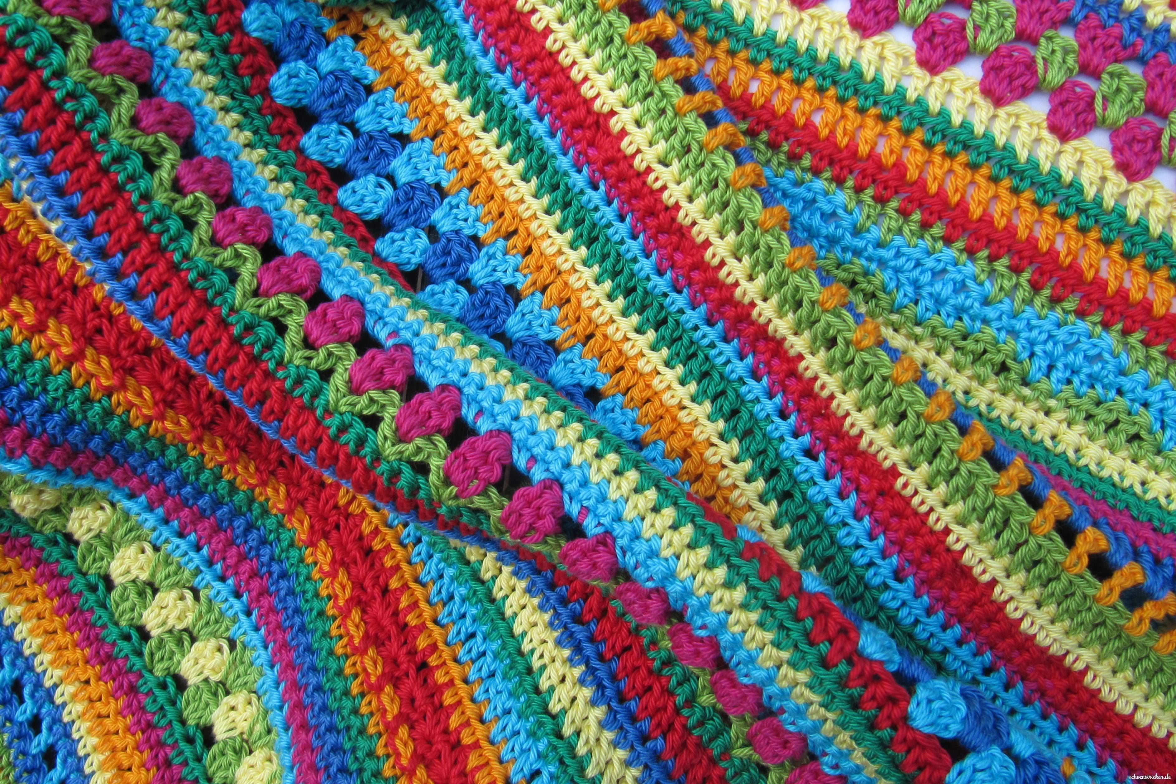 crochet along regenbogen babydecke teil 7. Black Bedroom Furniture Sets. Home Design Ideas