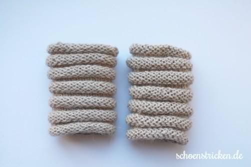 Kurze Pulswärmer stricken aus einem Wollknäuel - schoenstricken.de