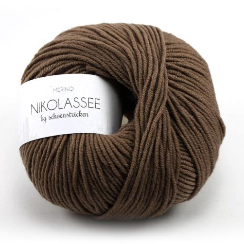 schoenstricken Wolle Nikolassee 315 Tabacco