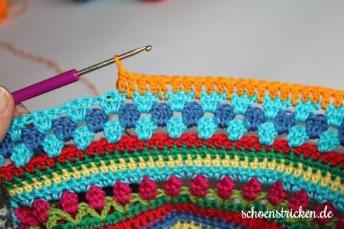 Teil 5 Reihe 1 crochet along  schoenstricken.de