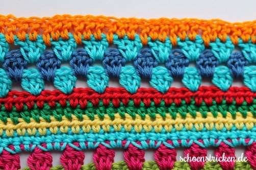 Teil 5 Reihe 1 close crochet along - schoenstricken.de