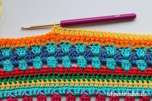 Teil 5 Reihe 2 Crochet Along - schoenstricken.de
