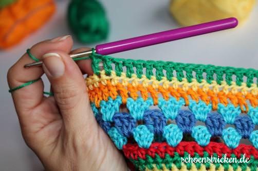 Teil 5 Reihe 3 crochet along - schoenstricken.de