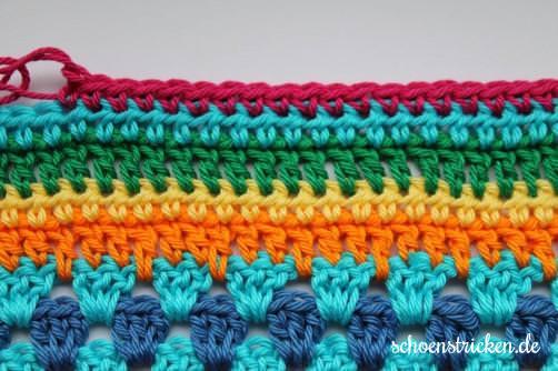 Teil 5 Reihe 5 crochet along - schoenstricken.de