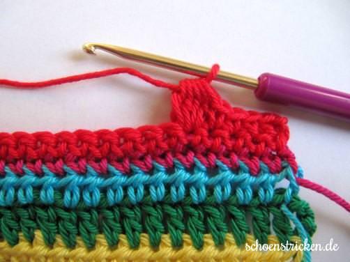 Teil 5 Reihe 7a crochet along - schoenstricken.de