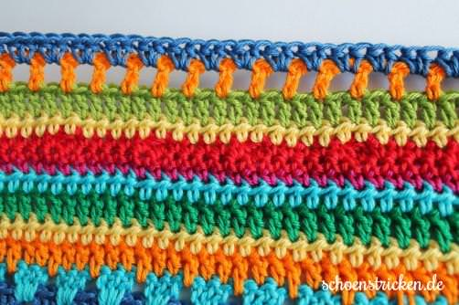 Teil 6 Reihe 1 crochet along Babydecke - schoenstricken.de