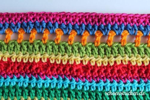 Teil 6 Reihe 3 crochet along Babydecke - schoenstricken.de