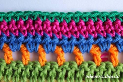 Teil 6 Reihe 4 crochet along Babydecke - schoenstricken.de