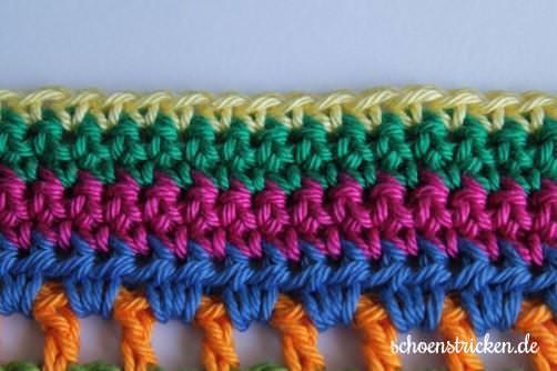 Teil 6 Reihe 6 crochet along Babydecke - schoenstricken.de
