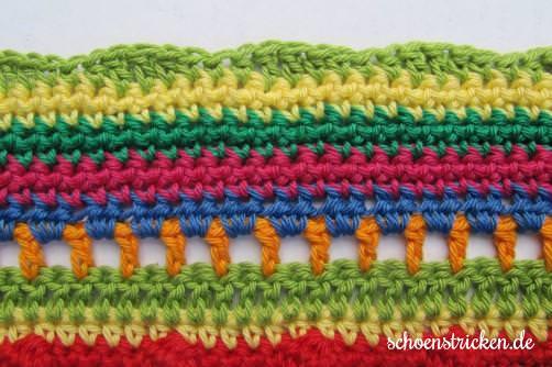 Teil 6 Reihe 8a crochet along Babydecke - schoenstricken.de