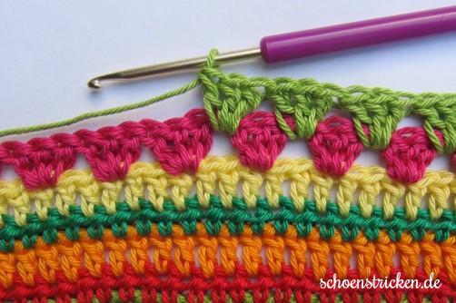 Teil 7 Reihe 6 crochet along - schoenstricken.de