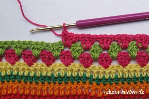 Teil 7 Reihe 7 crochet along - schoenstricken.de