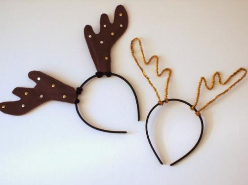 Weihnachts DIY Rentier Haarschmuck basteln - schoenstricken.de