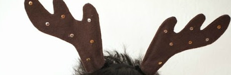 2 DIY Reindeer Antler Horns Headband Christmas craft 1